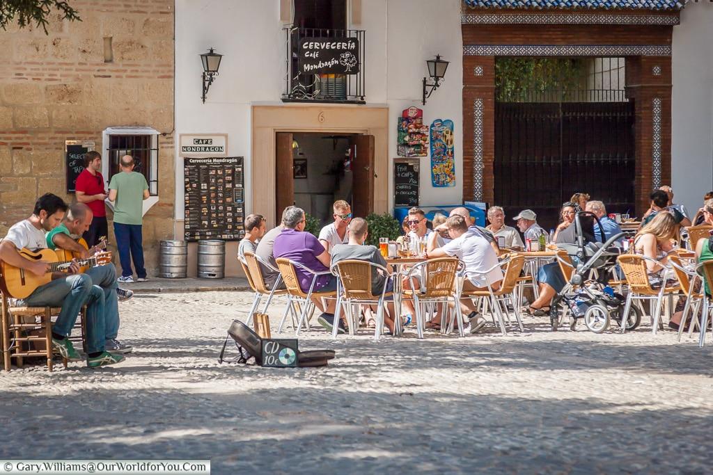 Relaxing in Plaza Duquesa de Parcent, Ronda, Spain