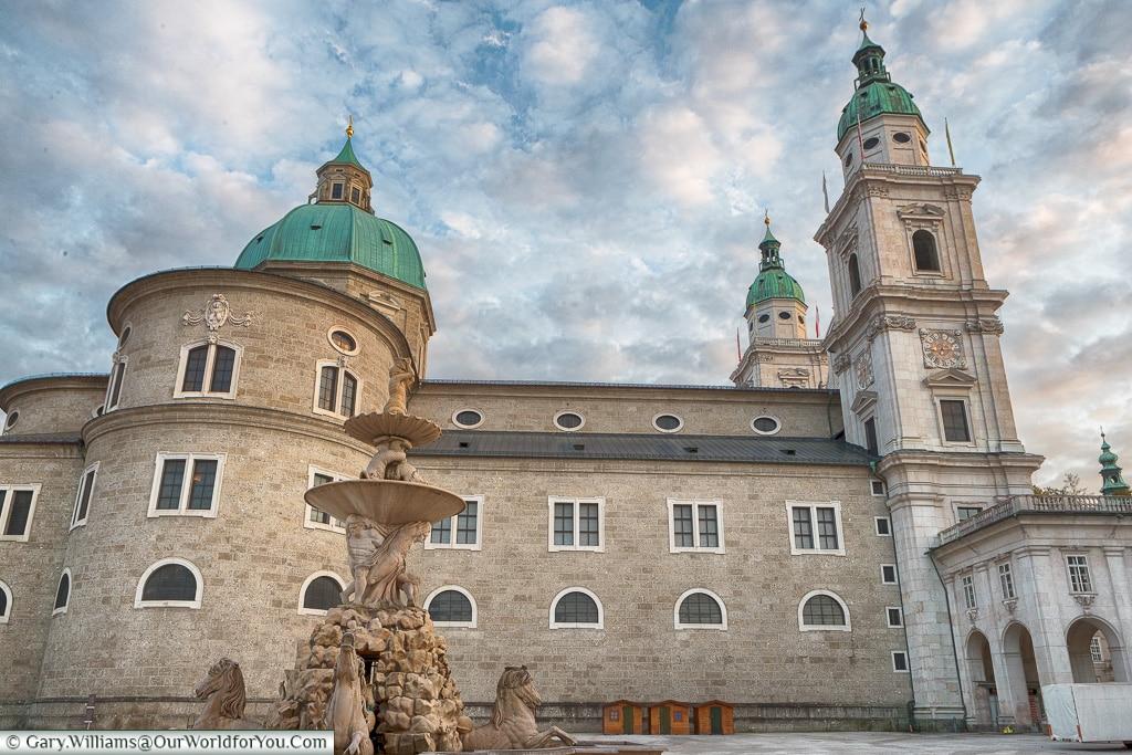 The Cathedral from Residenzplatz, Salzburg, Austria