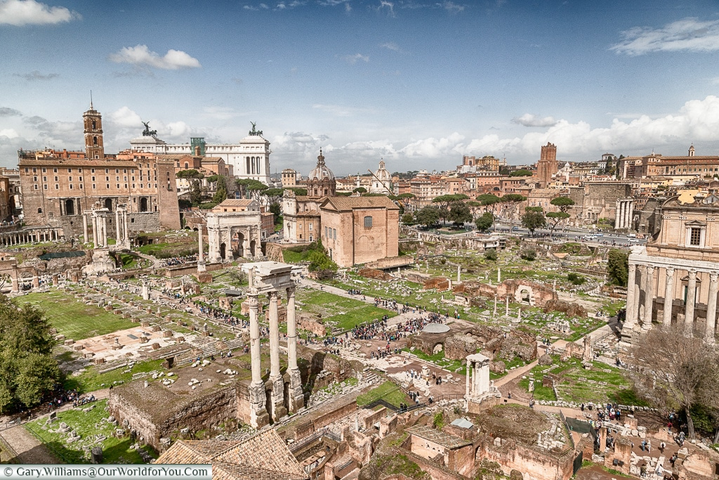The Forum from on high, Rome, Italy