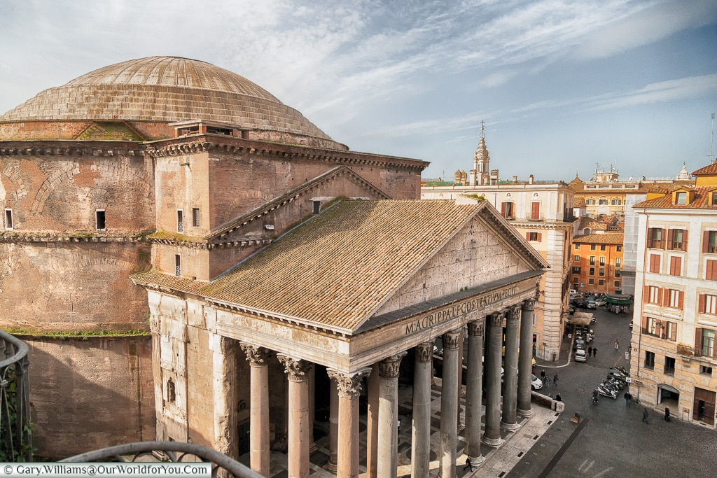 The Pantheon from our room, Rome, Italy