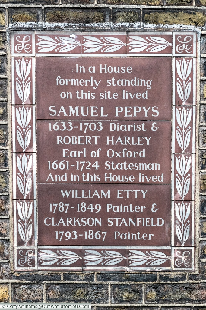 Not all round, Blue Plaques, London, England