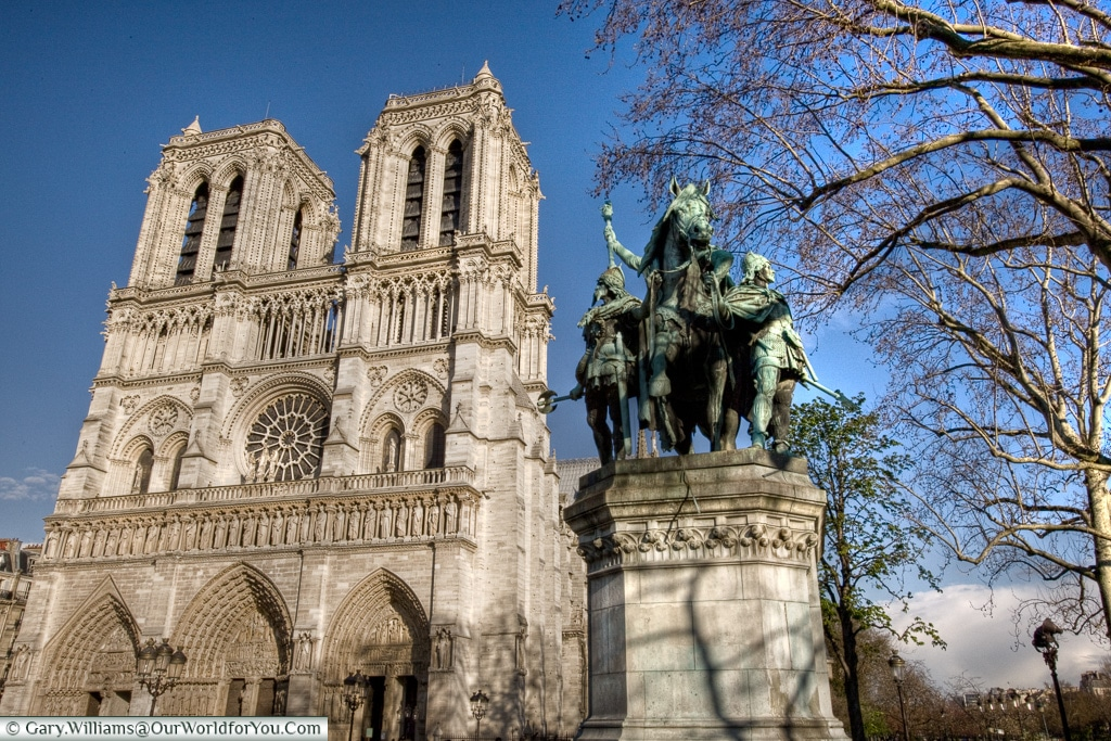 Notre Dame in the spring sun, Paris, France