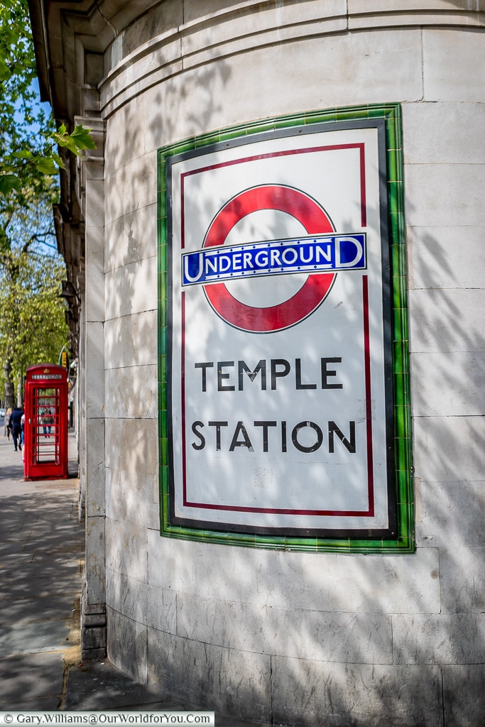Temple Station, London, England, UK