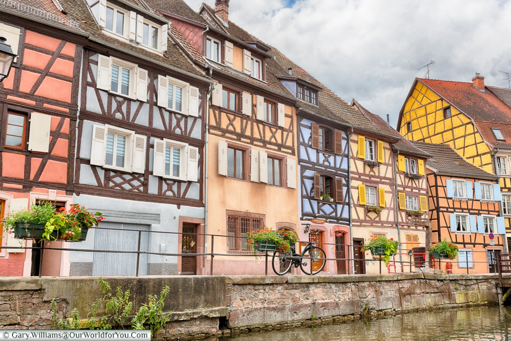 Floating by on La Petite Venise, Colmar, Alsace, France