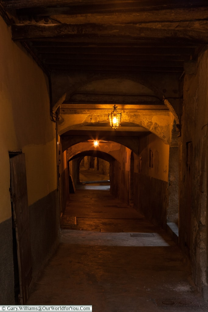 The underground walkways of Villefranche-sur-mer, France