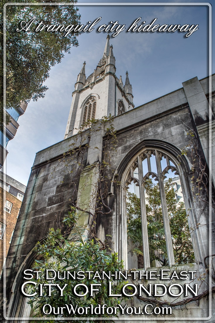 A tranquil city hideaway,St Dunstan-in the East, City of London, London