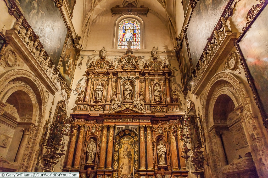 Amazing detail inside the Cathedral, Seville Cathedral, Seville, Spain