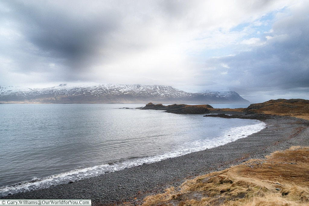 The bay at Teigarhorn Natural Monument and Nature Preserve, Iceland