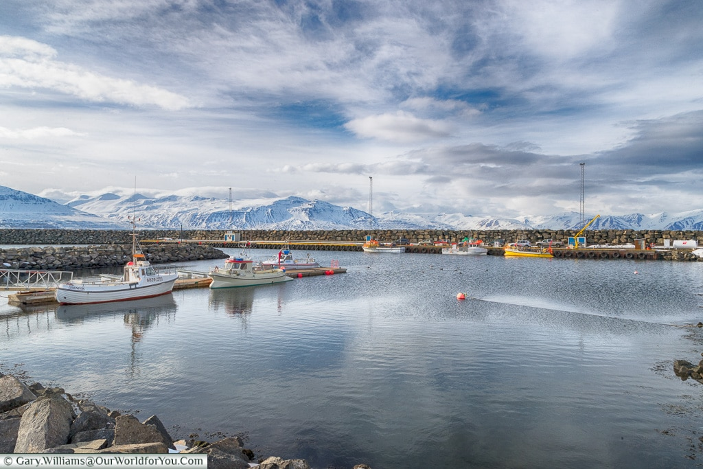 The harbour at Grenivik, Iceland