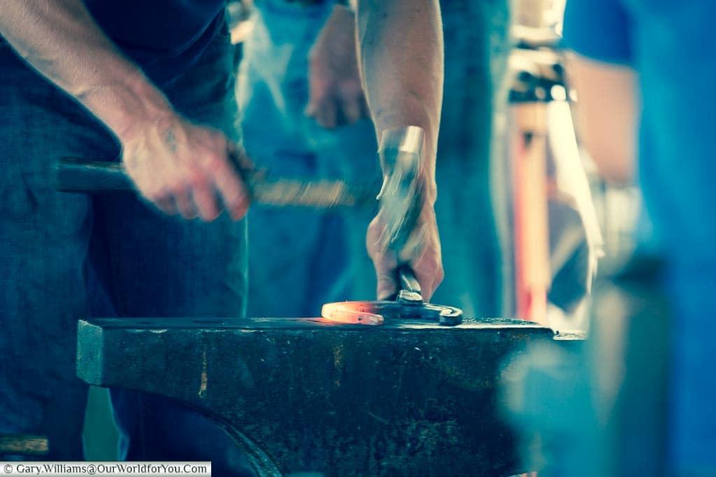 Blacksmiths at work, Kent County Show, Kent, England, UK