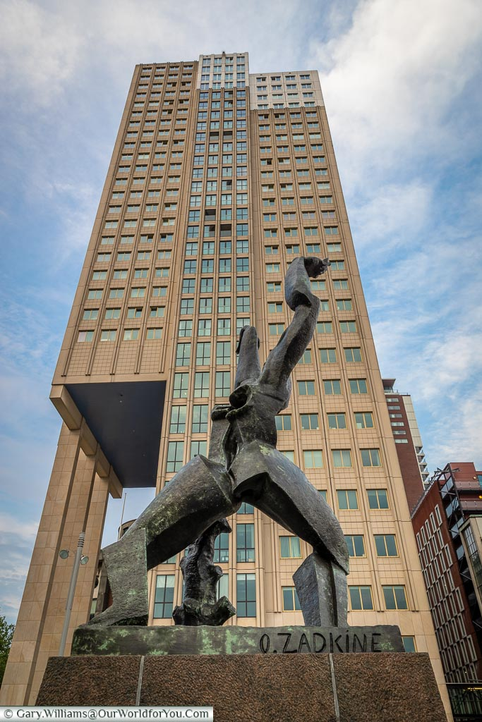 The Destroyed City monument, Rotterdam, Netherlands