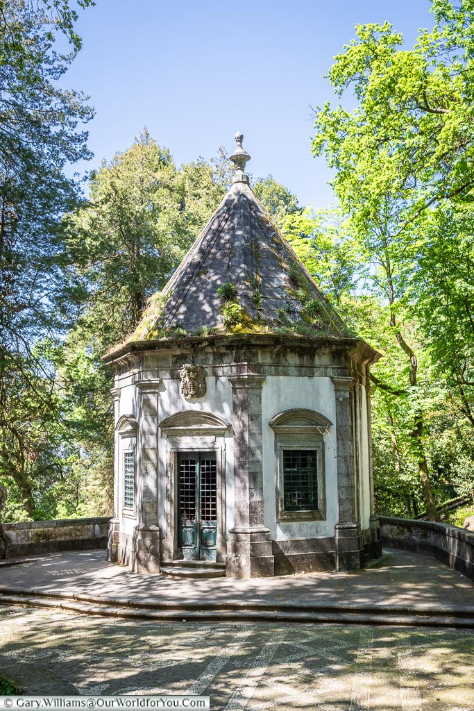 A chapel at the base of Bom Jesus do Monte, Portugal