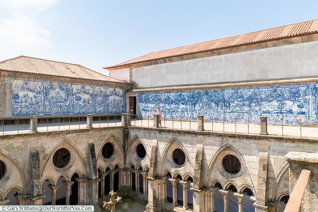 Above the cloisters of the Cathedral, Porto, Portugal