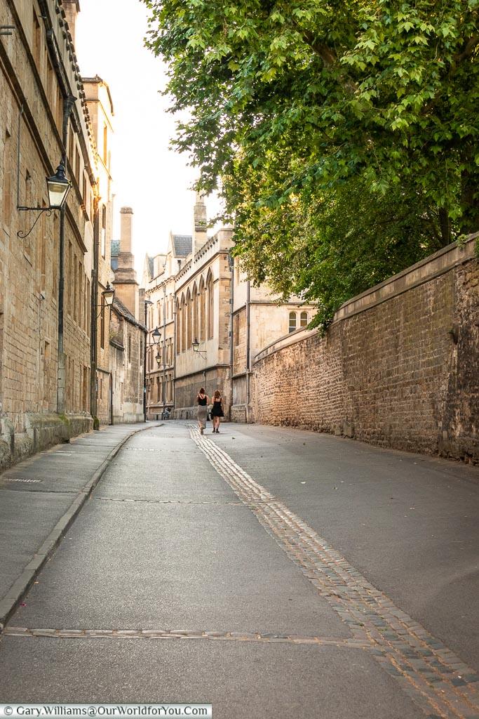 Along Brasenose Lane, Oxford, England, UK