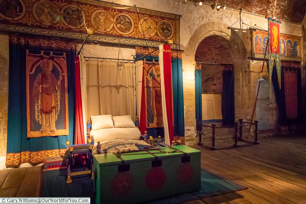 The King's bed chamber, Dover Castle, Dover, Kent, England