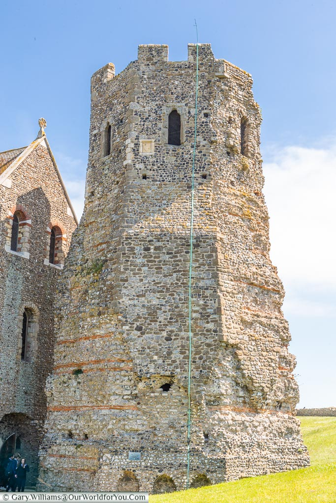 The Roman Lighthouse, Dover Castle, Dover, Kent, England
