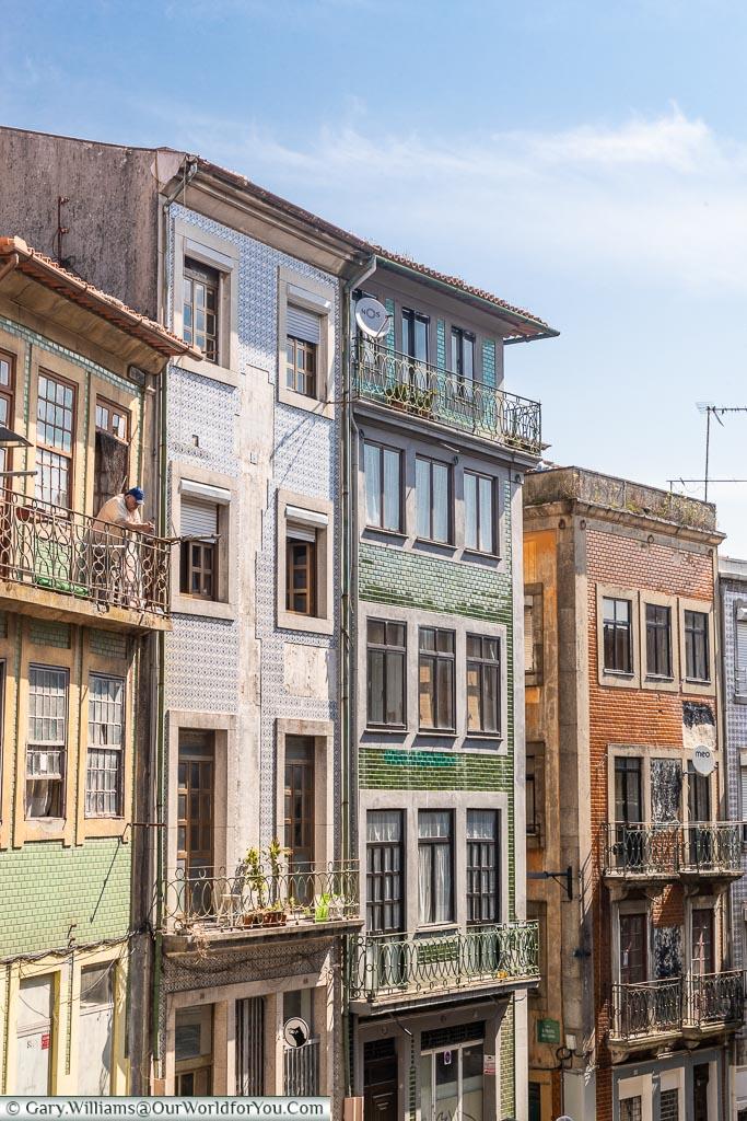 The balconies of Porto, Porto, Portugal