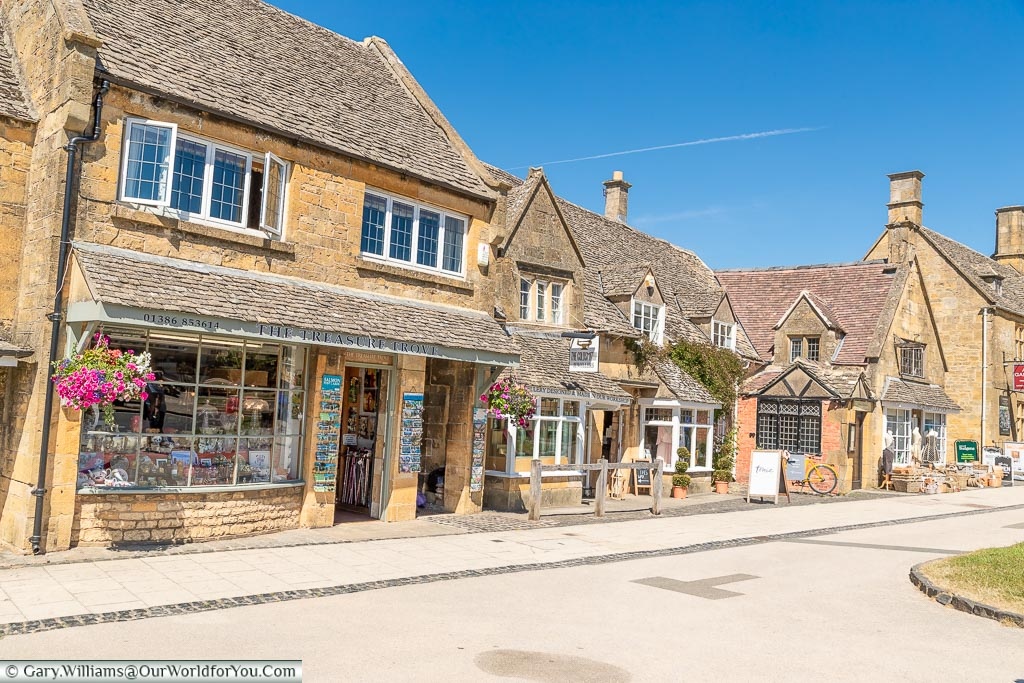 Village shops, Broadway, Worcestershire, England, UK
