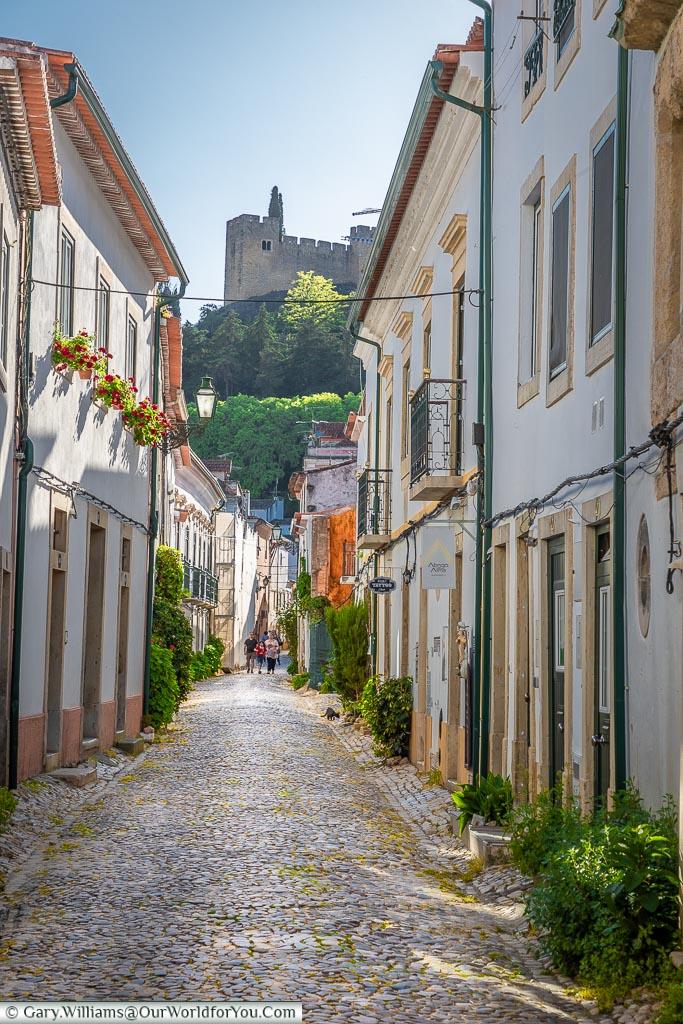A cobbled street, Tomar, Portugal