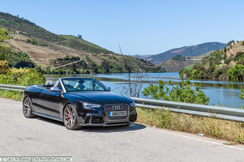 The Audi RS5 just outside Pinhão, Douro Valley, Portugal