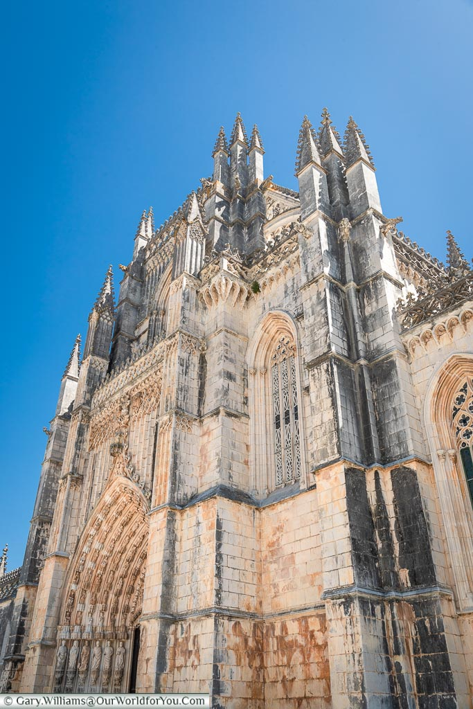 The main entrance to the Monastery of Batalha, Portugal