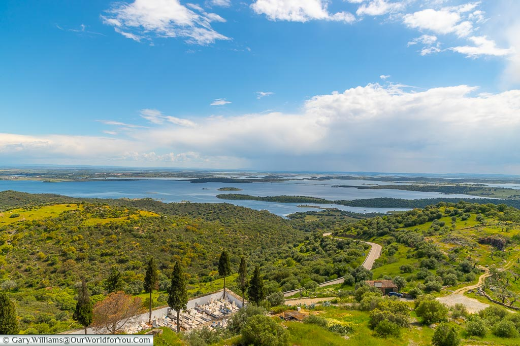 The view across River Guadiana, Monsaraz, Portugal