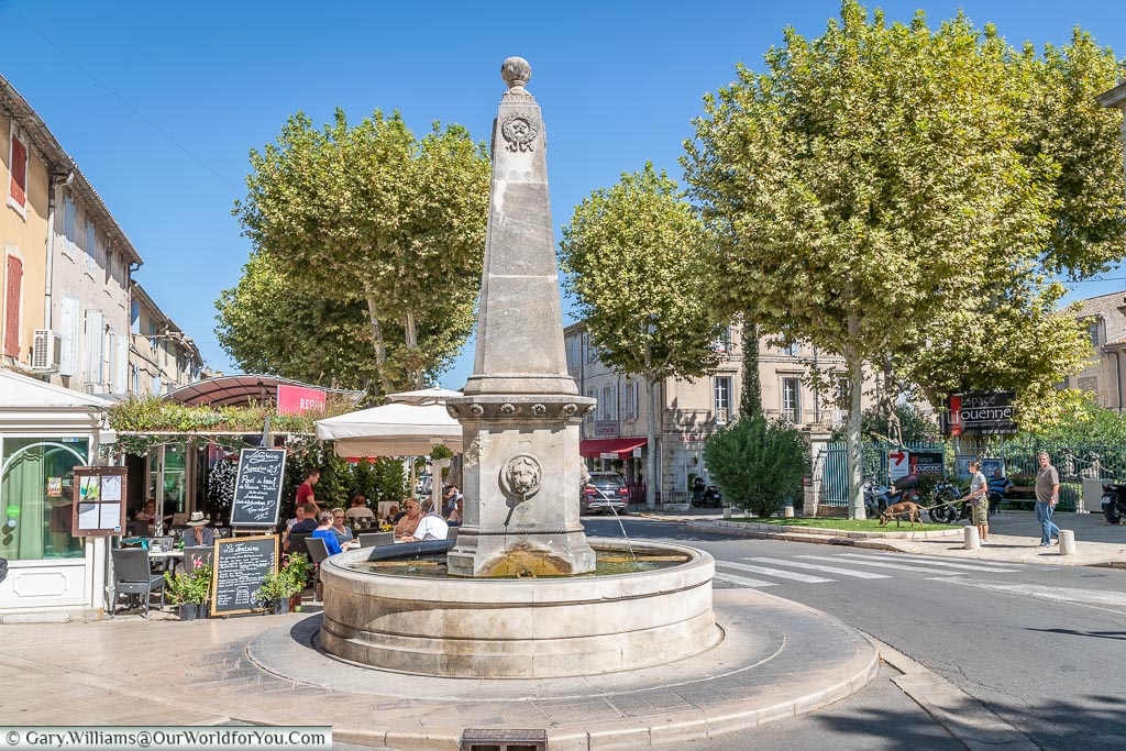 The fountain in town, St Remy-de-Provence, France