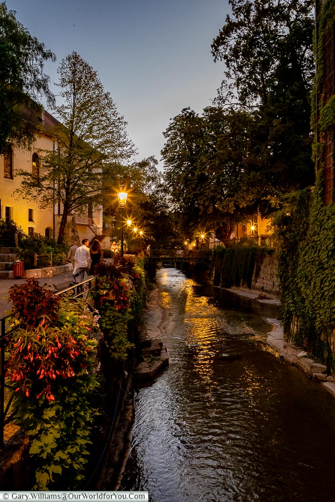 An evening stroll, Annecy, France