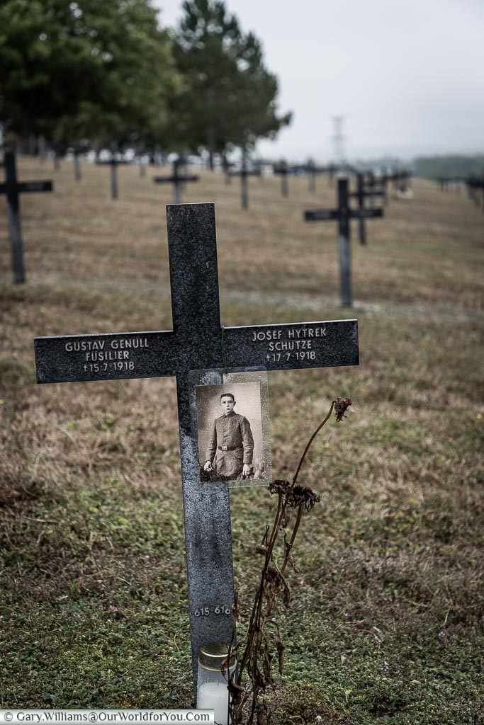 In memory at the German Marfaux Cemetery, France