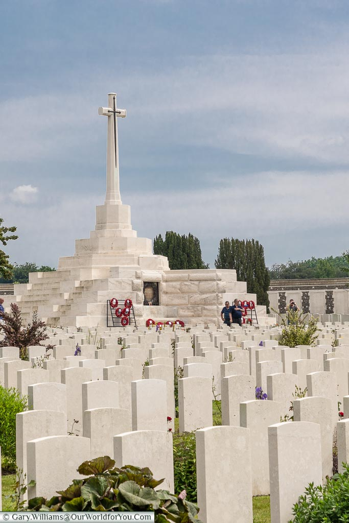 The Cross of Sacrifice at Tyne Cott, Belgium
