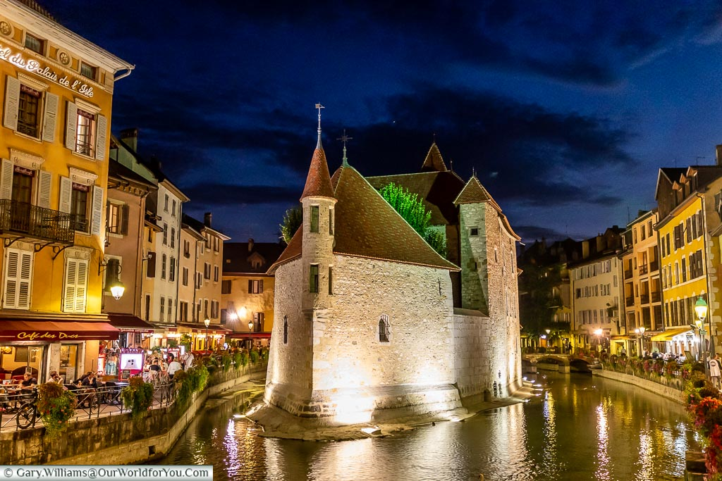 The Palais de l'Isle in the evening, Annecy, France