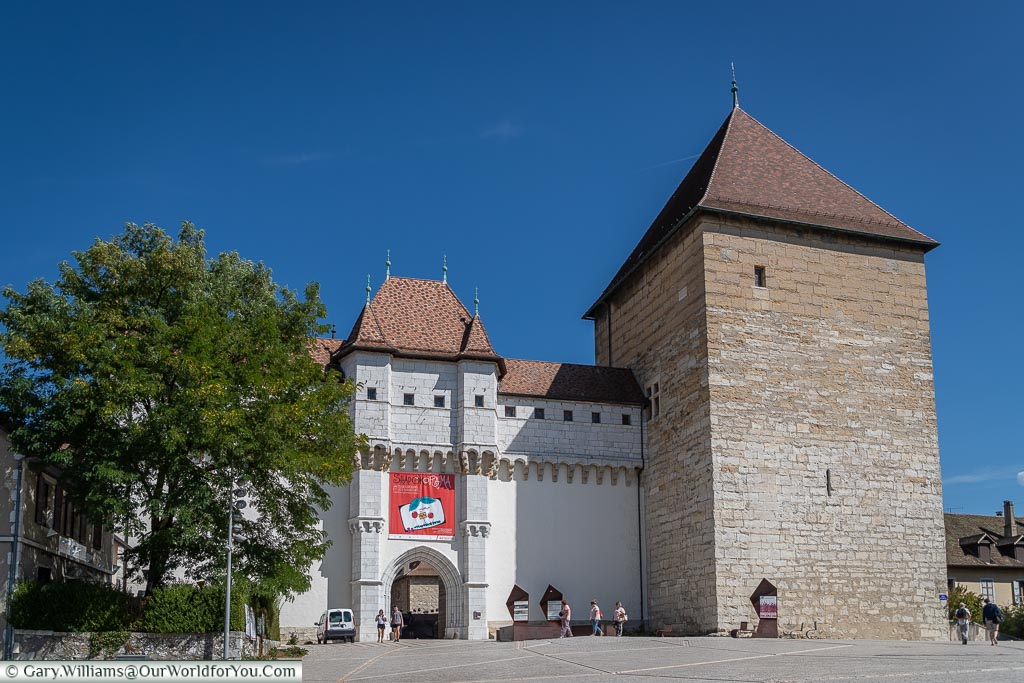 The entrance to Château d'Annecy, Annecy, France