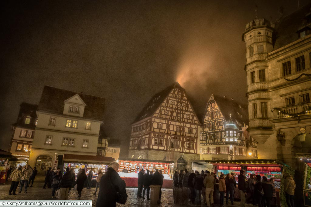 A historic town at Christmas, Rothenburg ob der Tauber, Germany