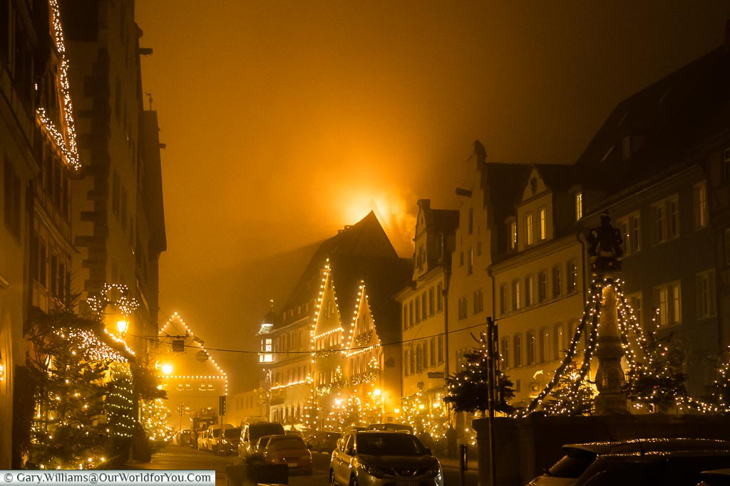 A town full of Christmas spirit, Rothenburg ob der Tauber, Germa