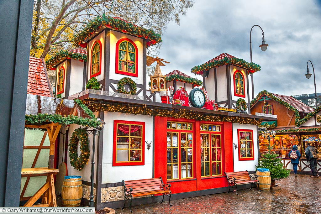 Santa's house at the Village of St Nicholas, Cologne, Germany