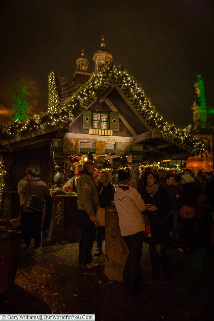Supping Glühwein at the Elf Christmas Market, Cologne, Germany