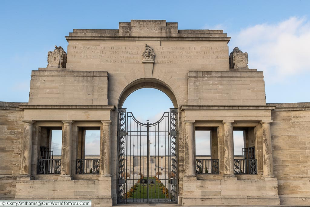 The Gates to the Pozieres Memorial, Somme, France