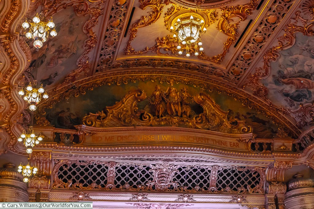 The beauty's in the detail, Tower Ballroom, Blackpool, Lancashire, England, UK
