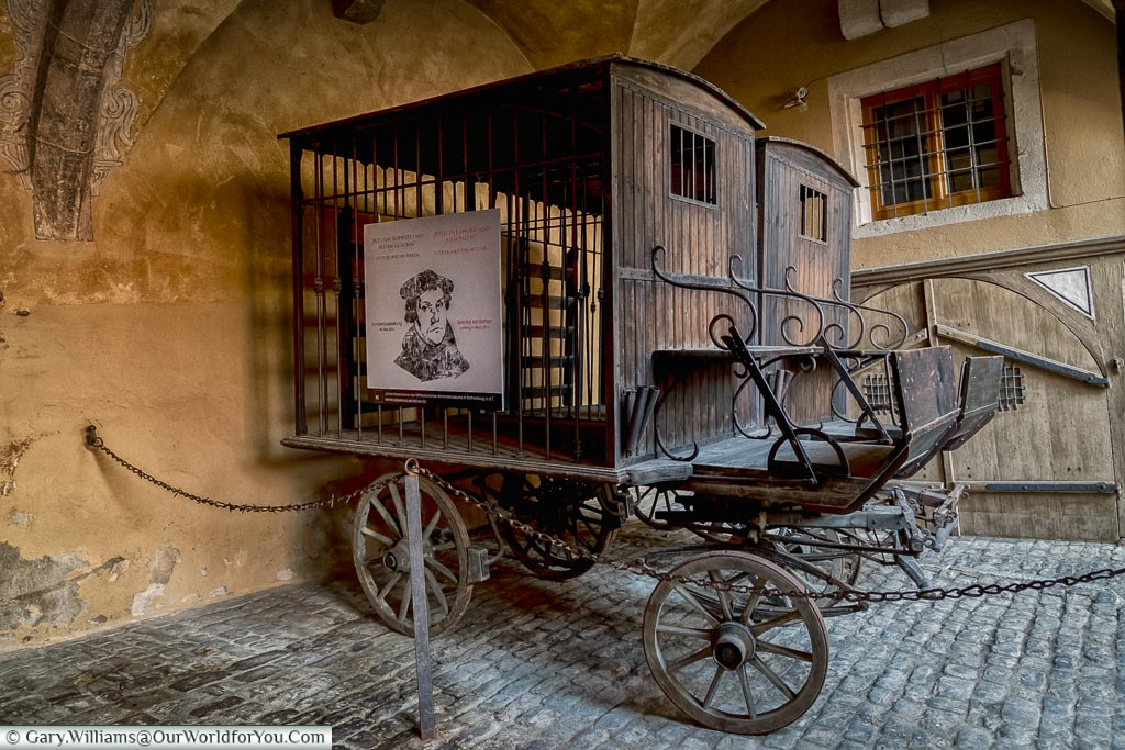 The child catcher's carriage, Rothenburg ob der Tauber, Germany