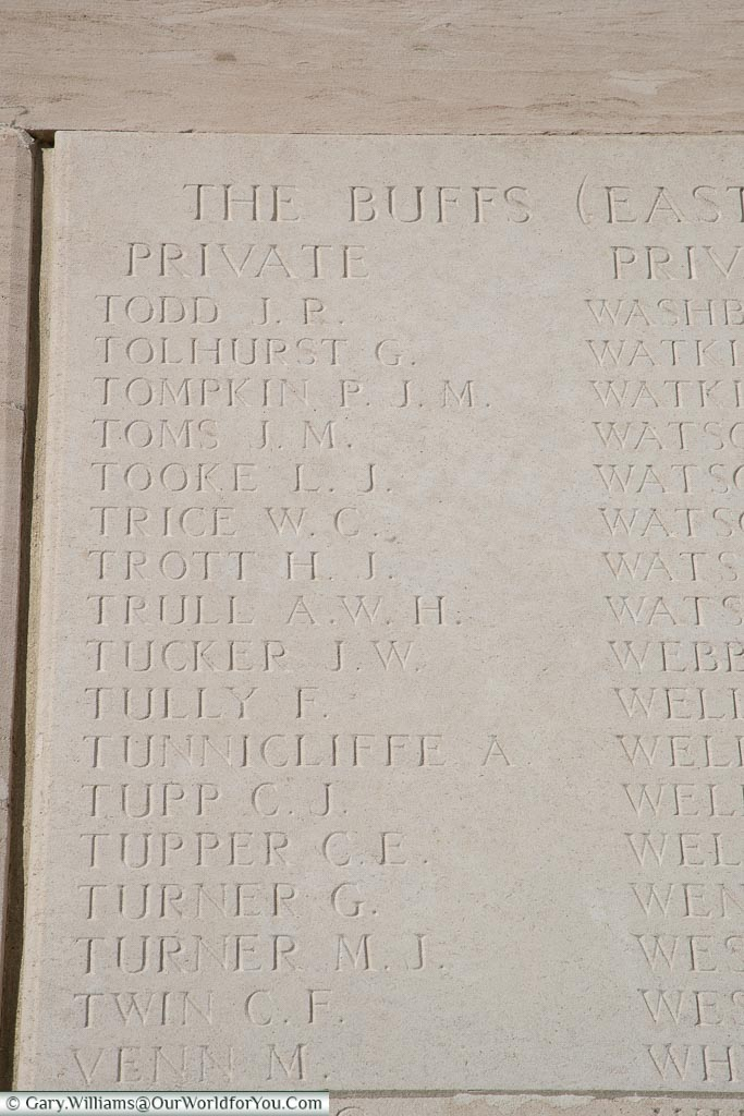 The memorial to Charles E Tupper, Loos Memorial, France