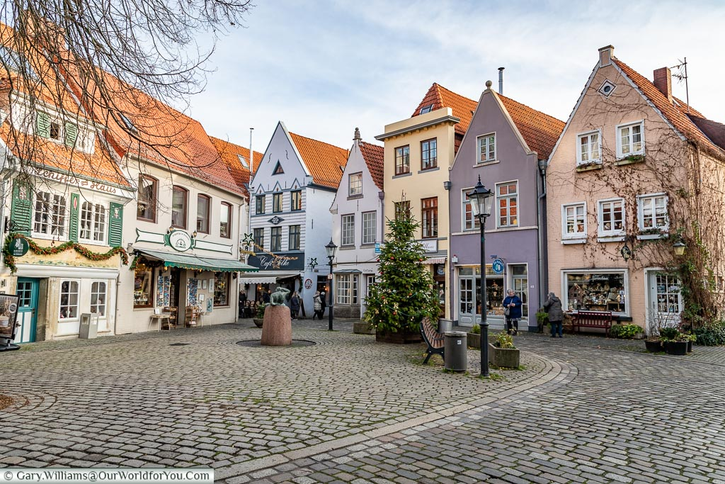 A quaint little square, Bremen, German Christmas Markets, Germany