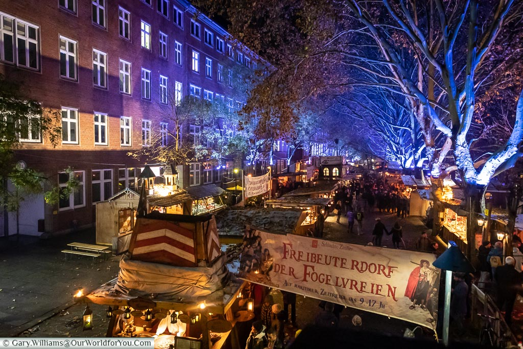 A view of the pirate river market, Bremen, German Christmas Markets, Germany