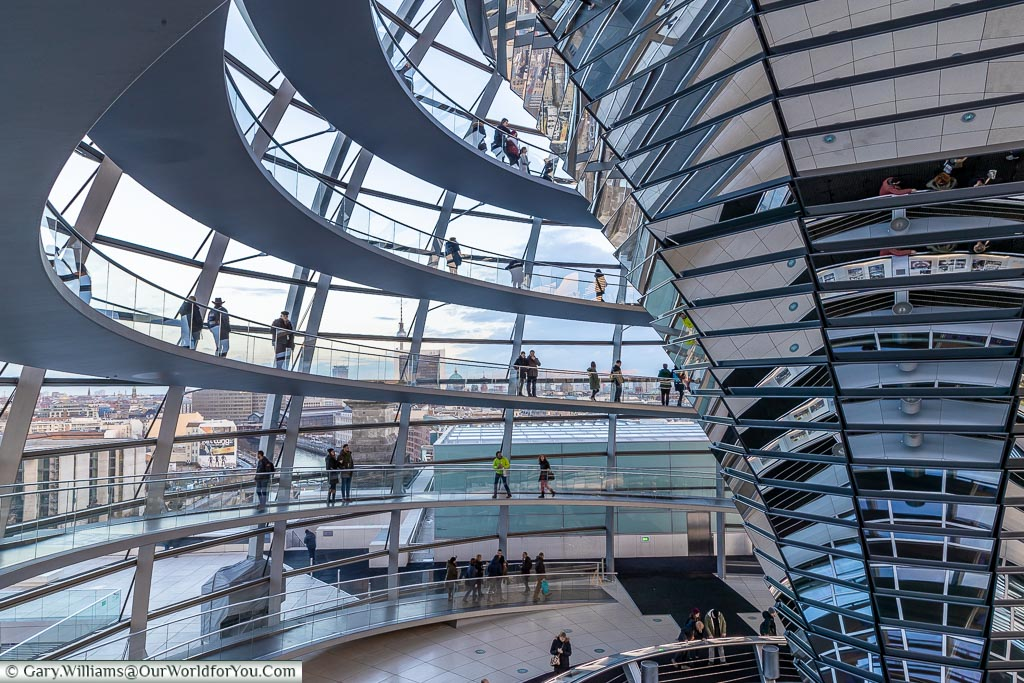 Inside the Reichstag dome, Berlin German Christmas Markets