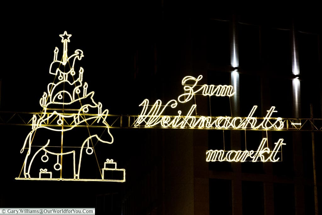 Weihnachtsmarkt sign, Bremen, German Christmas Markets, Germany
