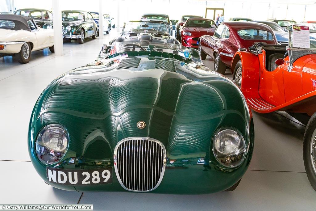 A Heritage Jaguar, British Motor Museum, Warwickshire, England, UK