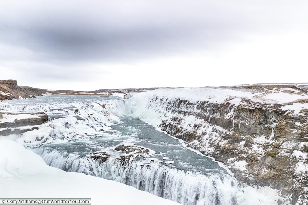 Gullfoss with Ice and snow - 2018, Iceland