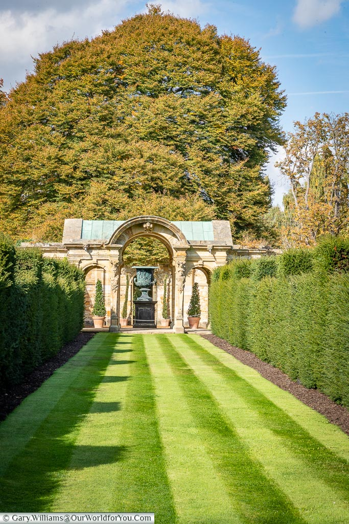 Laid to lawn, Hever Castle, Kent, England