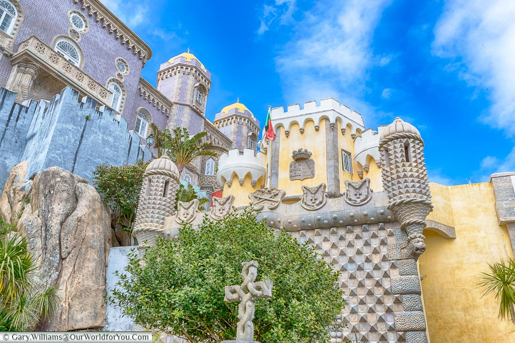 One view of the Palace of Pena, Sintra, Portugal