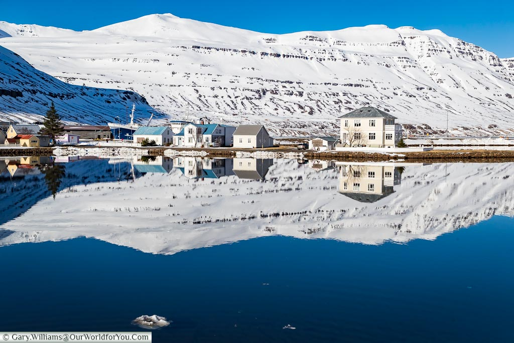 Reflections at Seydisfjordur, Iceland