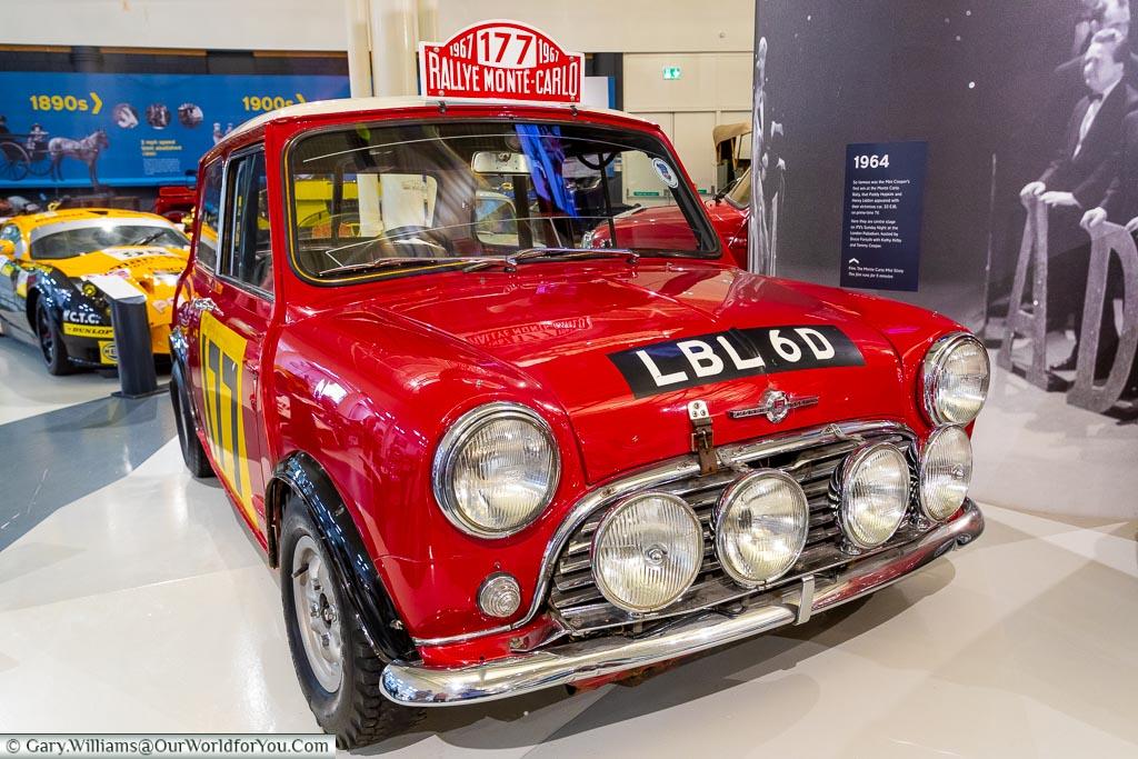 The classic Mini Cooper, British Motor Museum, Warwickshire, England, UK